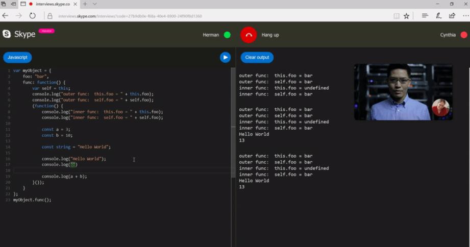 Skype adiciona editor de código para uso em entrevistas com desenvolvedores